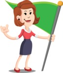 Flat Female Cartoon Vector Character AKA Masha Manners - Checkpoint