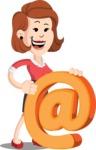 Flat Female Cartoon Vector Character AKA Masha Manners - Email