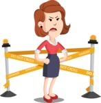 Flat Female Cartoon Vector Character AKA Masha Manners - Under Construction 2