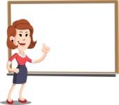 Flat Female Cartoon Vector Character AKA Masha Manners - Presentation 3