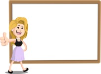 Flat Casual Blonde Female Cartoon Vector Character AKA Fiona Girly - Presentation 5