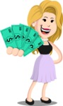 Flat Casual Blonde Female Cartoon Vector Character AKA Fiona Girly - Show me  the Money
