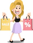 Flat Casual Blonde Female Cartoon Vector Character AKA Fiona Girly - Sale 2