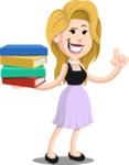 Flat Casual Blonde Female Cartoon Vector Character AKA Fiona Girly - Book 2