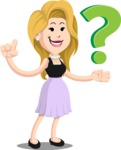 Flat Casual Blonde Female Cartoon Vector Character AKA Fiona Girly - Question