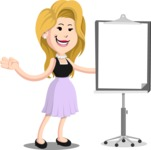 Flat Casual Blonde Female Cartoon Vector Character AKA Fiona Girly - Presentation 1