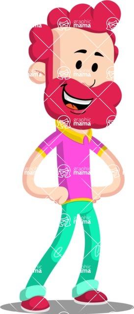 Flat Casual Male Cartoon Vector Character AKA Jasper Fresh - Normal