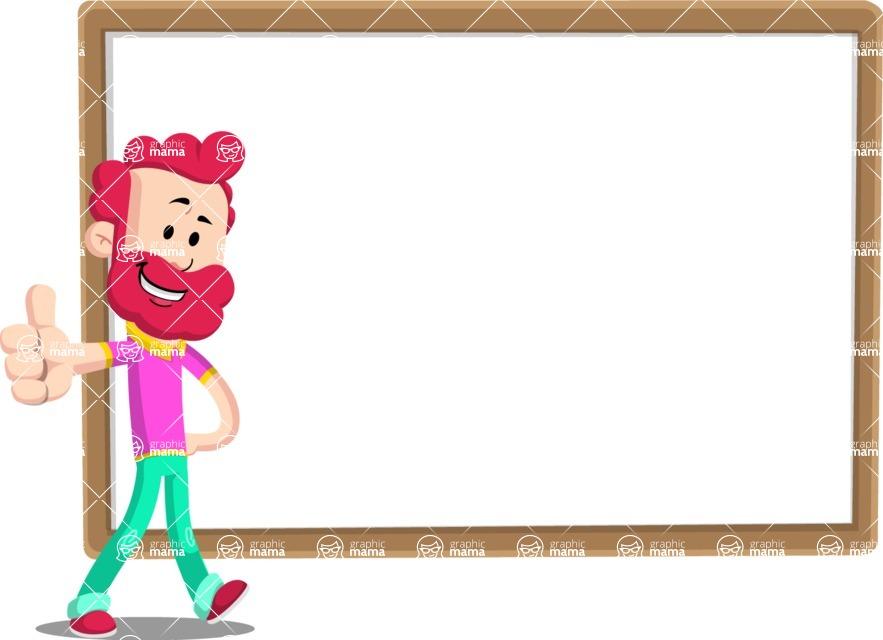 Flat Casual Male Cartoon Vector Character AKA Jasper Fresh - Presentation 5