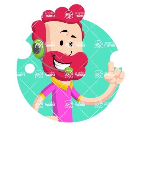 Flat Casual Male Cartoon Vector Character AKA Jasper Fresh - Shape 2