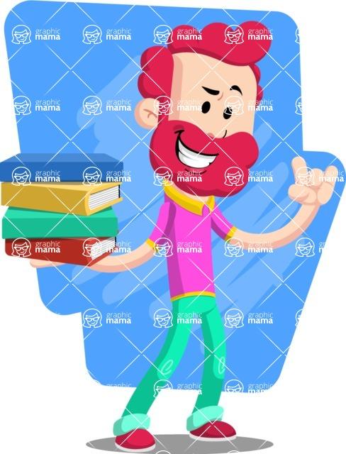 Flat Casual Male Cartoon Vector Character AKA Jasper Fresh - Shape 6