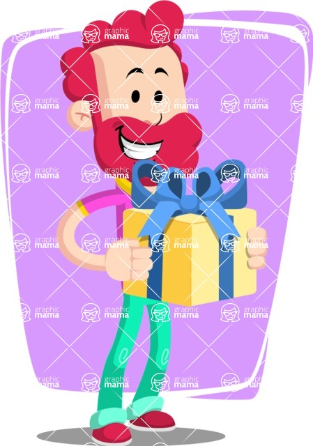 Flat Casual Male Cartoon Vector Character AKA Jasper Fresh - Shape 8