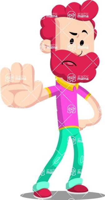 Flat Casual Male Cartoon Vector Character AKA Jasper Fresh - Stop 2