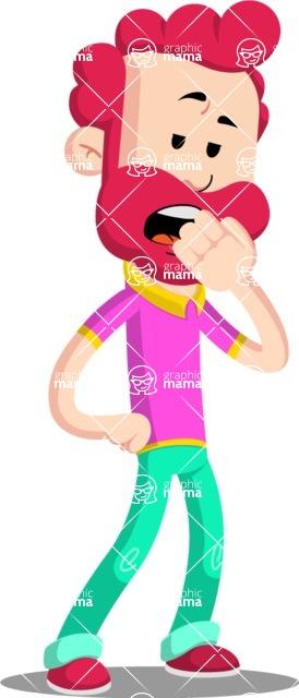 Flat Casual Male Cartoon Vector Character AKA Jasper Fresh - Bored