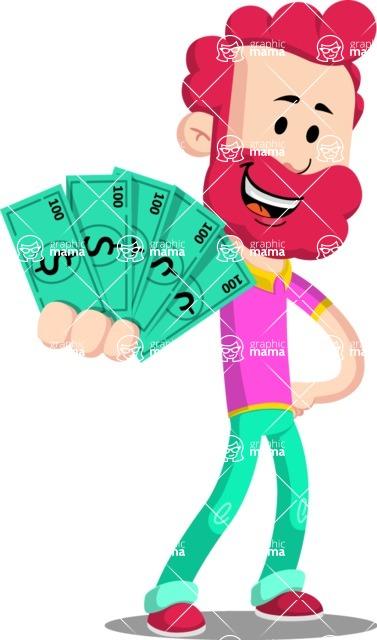 Flat Casual Male Cartoon Vector Character AKA Jasper Fresh - Show me  the Money