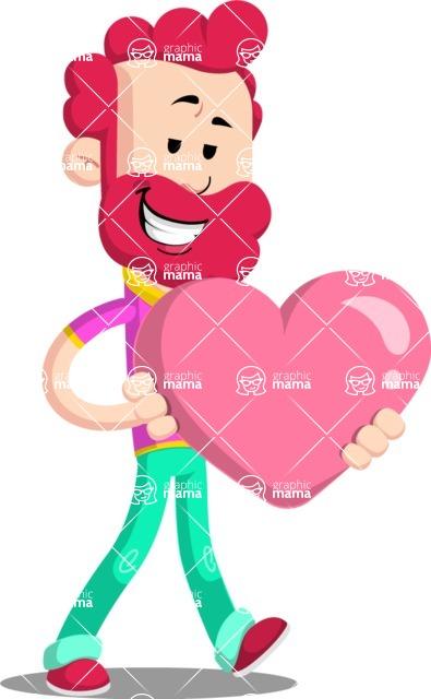 Flat Casual Male Cartoon Vector Character AKA Jasper Fresh - Love
