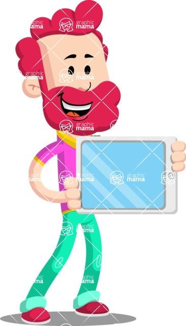 Flat Casual Male Cartoon Vector Character AKA Jasper Fresh - iPad 2