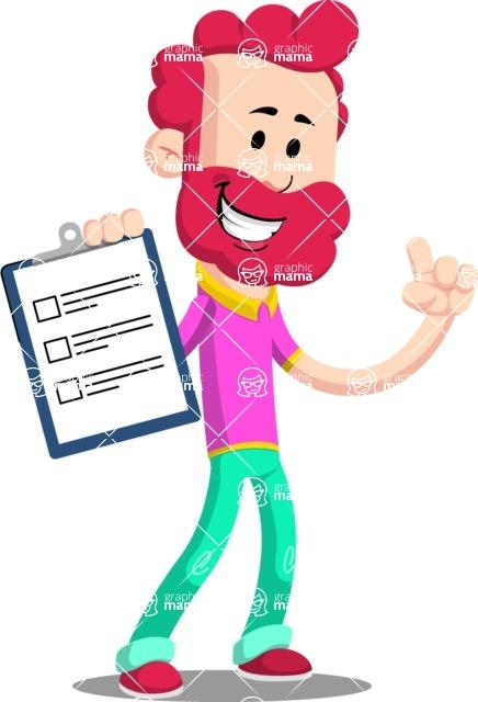 Flat Casual Male Cartoon Vector Character AKA Jasper Fresh - Notepad 1