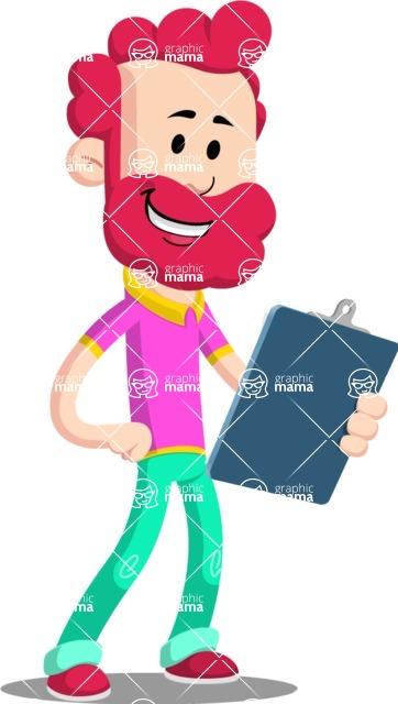 Flat Casual Male Cartoon Vector Character AKA Jasper Fresh - Notepad 2