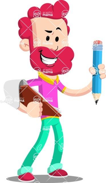 Flat Casual Male Cartoon Vector Character AKA Jasper Fresh - Notepad 3