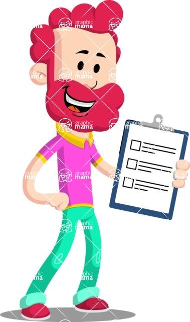 Flat Casual Male Cartoon Vector Character AKA Jasper Fresh - Notepad 4