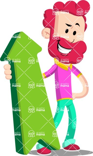 Flat Casual Male Cartoon Vector Character AKA Jasper Fresh - Pointer 1