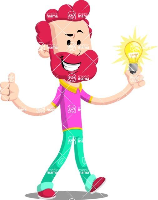 Flat Casual Male Cartoon Vector Character AKA Jasper Fresh - Idea 1