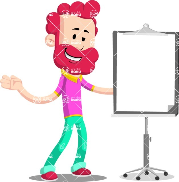 Flat Casual Male Cartoon Vector Character AKA Jasper Fresh - Presentation 1