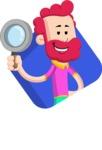Flat Casual Male Cartoon Vector Character AKA Jasper Fresh - Shape 3
