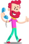 Flat Casual Male Cartoon Vector Character AKA Jasper Fresh - Support
