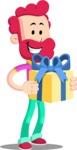 Flat Casual Male Cartoon Vector Character AKA Jasper Fresh - Gift