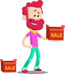 Flat Casual Male Cartoon Vector Character AKA Jasper Fresh - Sale