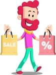 Flat Casual Male Cartoon Vector Character AKA Jasper Fresh - Sale 2