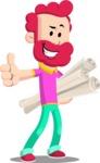 Flat Casual Male Cartoon Vector Character AKA Jasper Fresh - Plans