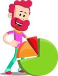 Flat Casual Male Cartoon Vector Character AKA Jasper Fresh - Chart