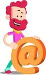 Flat Casual Male Cartoon Vector Character AKA Jasper Fresh - Email