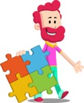 Flat Casual Male Cartoon Vector Character AKA Jasper Fresh - Puzzle