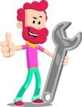 Flat Casual Male Cartoon Vector Character AKA Jasper Fresh - Repair