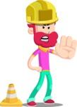 Flat Casual Male Cartoon Vector Character AKA Jasper Fresh - Under Construction 1