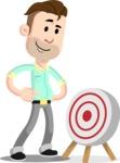 Man with Stubble Beard Cartoon Vector Character AKA Jude - Target