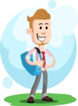 Office Guy Cartoon Vector Character AKA Owen - Shape 5