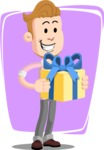 Office Guy Cartoon Vector Character AKA Owen - Shape 8