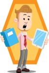 Office Guy Cartoon Vector Character AKA Owen - Shape 10