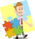 Office Guy Cartoon Vector Character AKA Owen - Shape 12