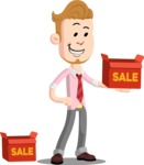 Office Guy Cartoon Vector Character AKA Owen - Sale
