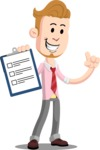 Office Guy Cartoon Vector Character AKA Owen - Notepad 1