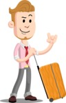 Office Guy Cartoon Vector Character AKA Owen - Travel 1