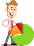 Office Guy Cartoon Vector Character AKA Owen - Chart