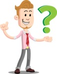 Office Guy Cartoon Vector Character AKA Owen - Question