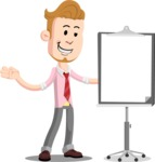 Office Guy Cartoon Vector Character AKA Owen - Presentation 1
