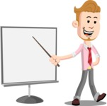 Office Guy Cartoon Vector Character AKA Owen - Presentation 2